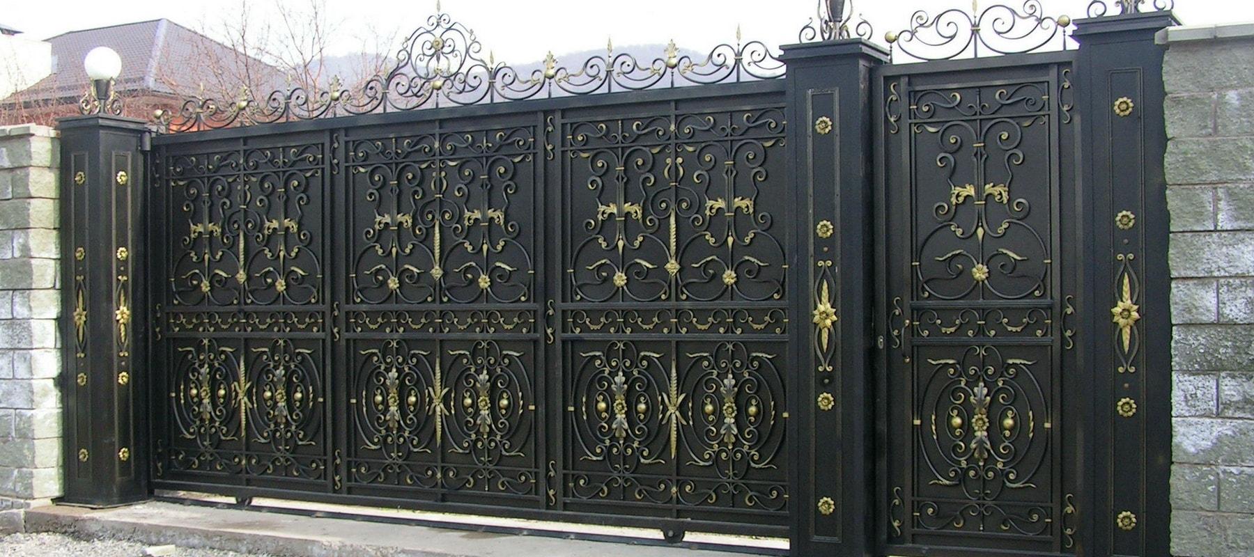 Кованые ворота в Твери